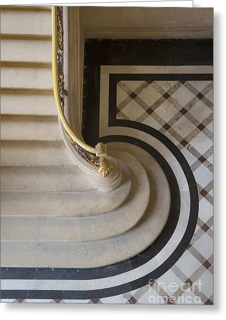Stepping Stones Greeting Cards - Louvre Steps Greeting Card by Brian Jannsen
