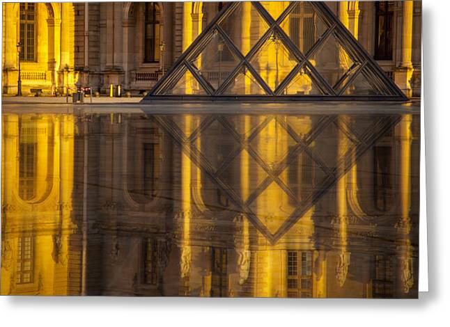 Louvre Sunset Greeting Card by Brian Jannsen