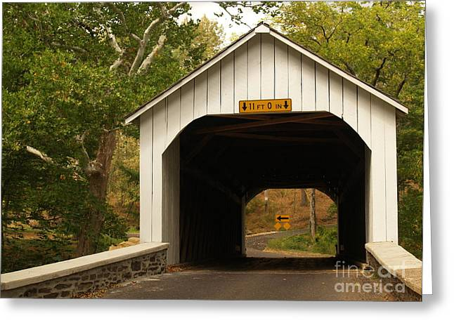 Loux Bridge and Sharp Left - Bucks County  Greeting Card by Anna Lisa Yoder