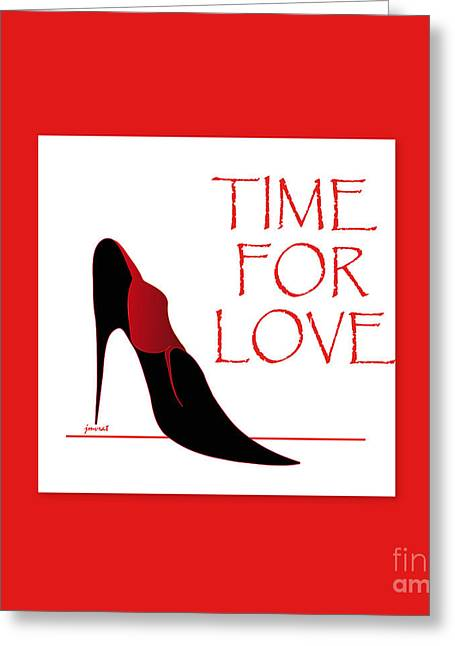 High Heels Abstract Art Greeting Cards - Love 1 Greeting Card by Johannes Murat