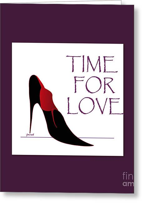 High Heels Abstract Art Greeting Cards - Love 2 Greeting Card by Johannes Murat