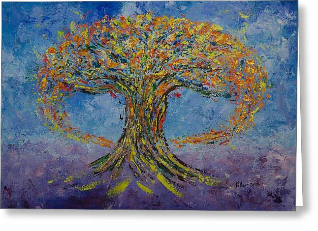 Pallet Knife Greeting Cards - Love #2 Greeting Card by William Killen