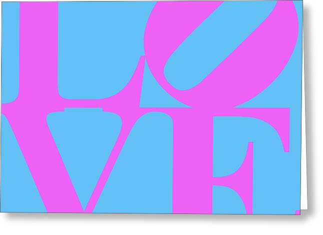 Valentimes Greeting Cards - LOVE 20130707 Violet Blue Greeting Card by Wingsdomain Art and Photography