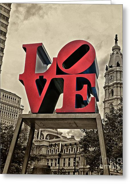 Love Statue Greeting Cards - Love 3 Greeting Card by Jack Paolini