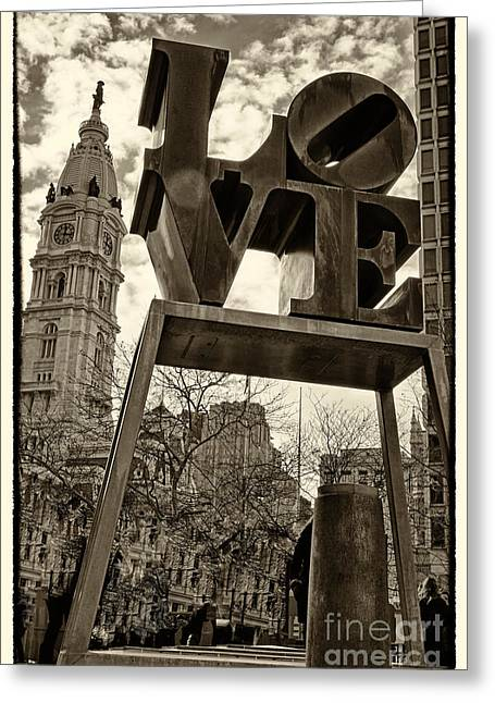 """love Park"" Greeting Cards - Love 4 Greeting Card by Jack Paolini"