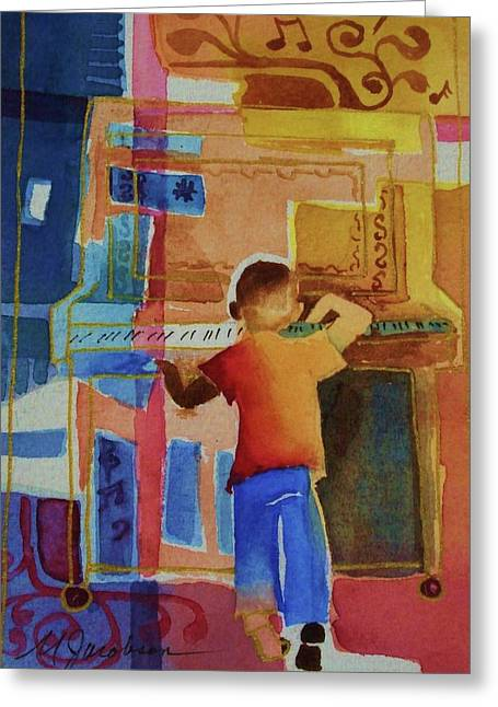 Love A Piano 1 Greeting Card by Marilyn Jacobson