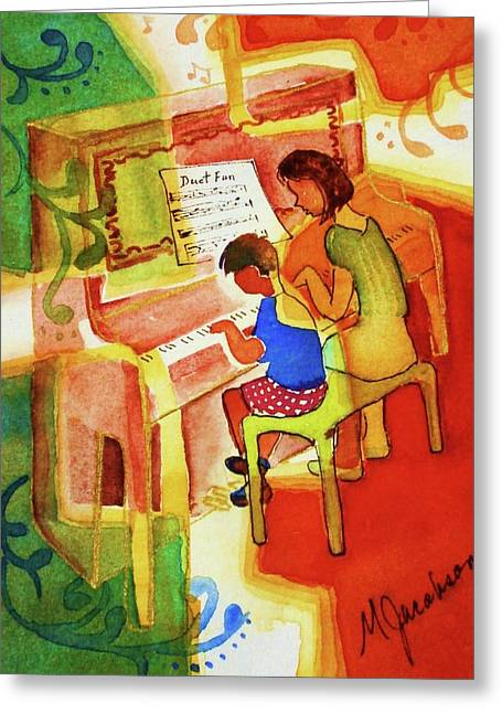 Lessons Greeting Cards - Love a Piano 2 Greeting Card by Marilyn Jacobson