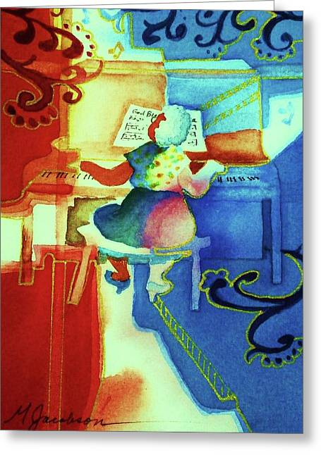 Piano Greeting Cards - Love a Piano 4 Greeting Card by Marilyn Jacobson