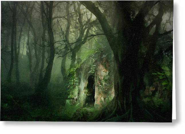 Love Affair With A Forest Greeting Card by Georgiana Romanovna