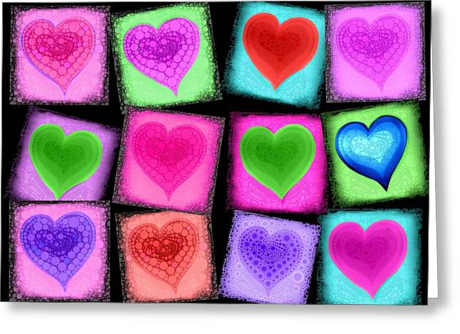 Sweethart Greeting Cards - Love All Around  Greeting Card by Cindy Edwards