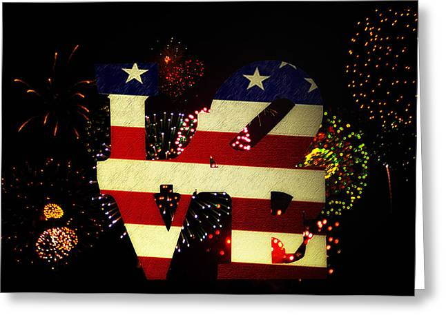 4th July Digital Art Greeting Cards - Love American Style Greeting Card by Bill Cannon