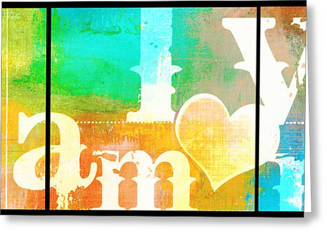 Couer Greeting Cards - Love Amor Wall Art Greeting Card by ArtyZen Studios