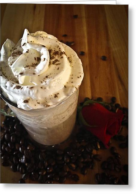 Capuccino Greeting Cards - Love and Chocolate Greeting Card by Deborah Klubertanz
