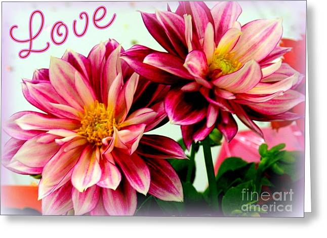 Floriography Greeting Cards - Love and Flowers Greeting Card by Kathy  White