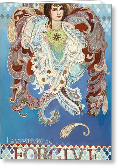 Seraphim Angel Greeting Cards - Love And Forgive Greeting Card by Diane Soule