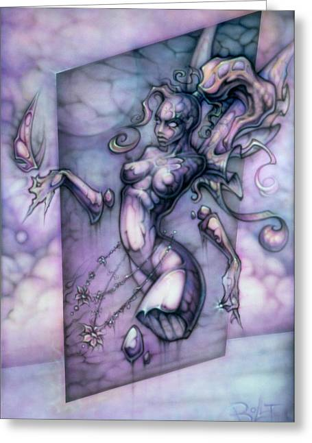 Faerie Paintings Greeting Cards - Love and Hope Greeting Card by David Bollt
