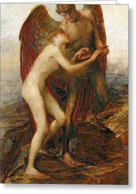 Embrace Greeting Cards - Love And Life Greeting Card by George Frederick Watts