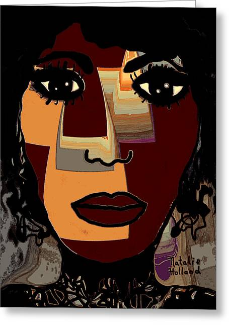 Eyebrow Mixed Media Greeting Cards - Love and Pain Greeting Card by Natalie Holland