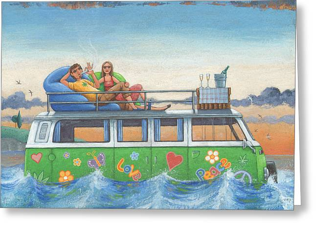 Peace And Freedom Greeting Cards - Love And Peace At Sea Greeting Card by Peter Adderley