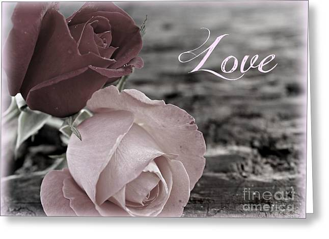 Roses Greeting Cards - Love and Roses Greeting Card by Clare Bevan