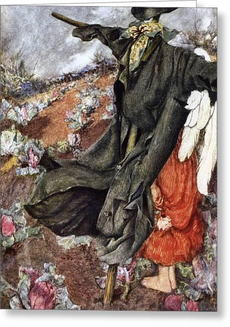 Old Masters Greeting Cards - Love and the Scarecrow Greeting Card by Eleanor Fortescue Brickdale
