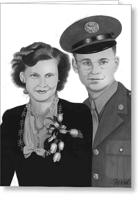Greatest Generation Greeting Cards - Love and War Greeting Card by Ferrel Cordle