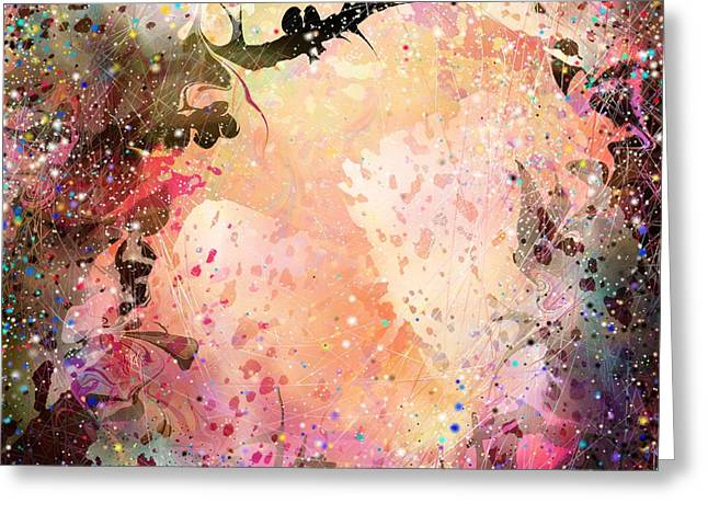Electric Creation Greeting Cards - Love at first sight Greeting Card by Rachel Christine Nowicki