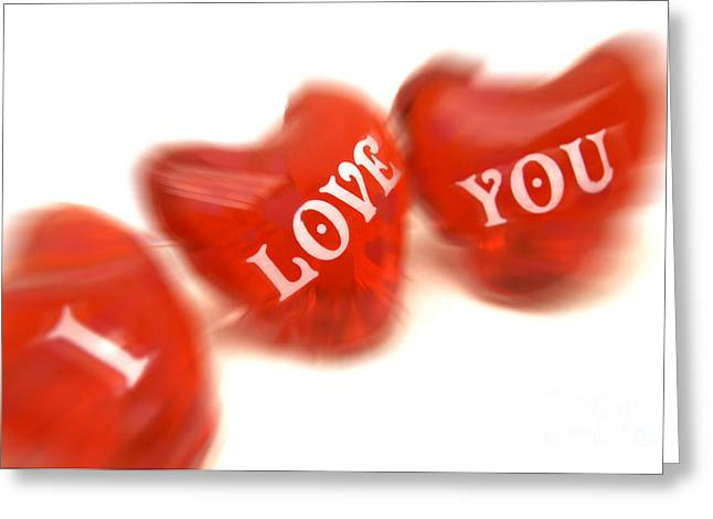 Passion Greeting Cards - Love Greeting Card by Bernard Jaubert