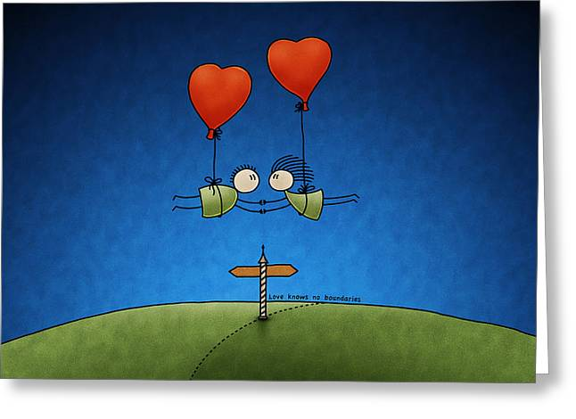 Love Blues Greeting Cards - Love Beyond Boundaries Greeting Card by Gianfranco Weiss