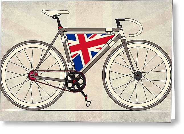 Messenger Greeting Cards - Love Bike Love Britain Greeting Card by Andy Scullion
