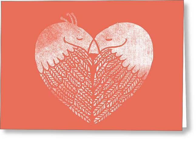 Heart Birds Greeting Card by Nava Seas