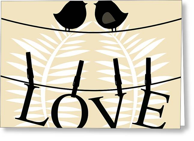 Love Birds  Greeting Card by Mark Ashkenazi