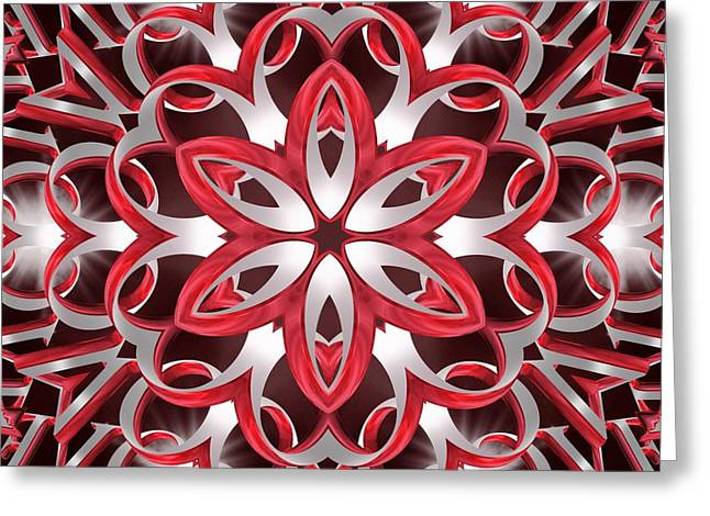 Geometric Image Greeting Cards - Love Blossoms Greeting Card by Derek Gedney