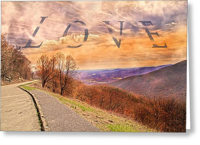 Tranquil Moments Greeting Cards - Love Blue Ridge Parkway Greeting Card by Betsy A  Cutler