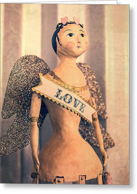 Paper Mache Greeting Cards - Love Greeting Card by Caitlyn  Grasso