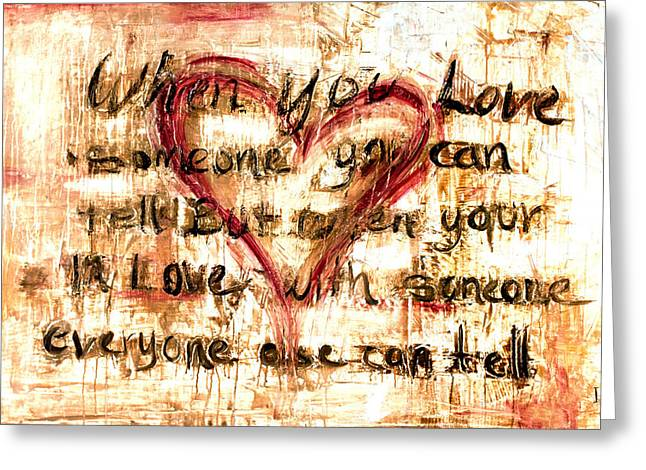 Family Love Greeting Cards - Love Can Tell Greeting Card by Ivan Guaderrama