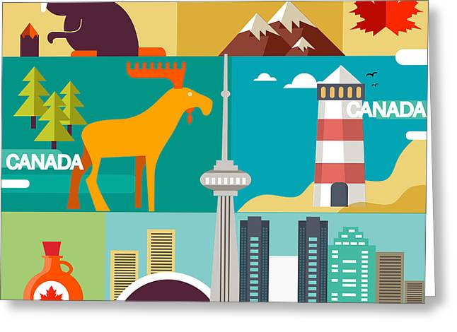 Montreal Icon Greeting Cards - Love Canada Greeting Card by Victoria Frenkel