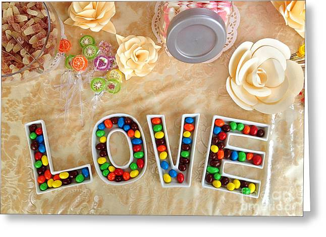 Love Letter Photographs Greeting Cards - Love Candies Greeting Card by Lars Ruecker