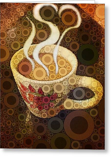 Espresso Prints Greeting Cards - Love Coffee Greeting Card by Cindy Edwards