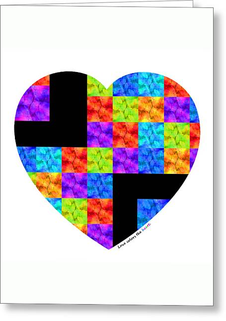 Fine Mixed Media Greeting Cards - Love Colors The Heart - Art By Sharon Cummings Greeting Card by Sharon Cummings