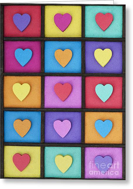 Love Colour Greeting Card by Tim Gainey