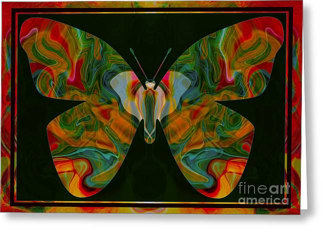 Owfotografik Greeting Cards - Love Creating Life Abstract Symbolism Art Greeting Card by Omaste Witkowski