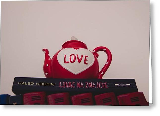 Book Ceramics Greeting Cards - Love Cruse Greeting Card by Samir Halilovic