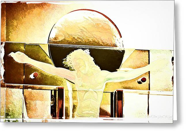 Religious Greeting Cards - Love digital paint effect Greeting Card by Sharon Soberon