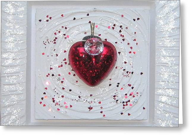 Heart Reliefs Greeting Cards - Love follows consciousness Greeting Card by Heidi Sieber