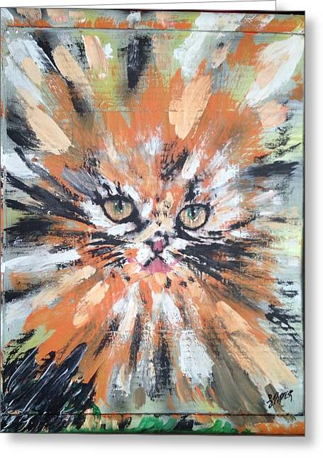 Love For Cats Greeting Card by Lisa Piper Menkin Stegeman