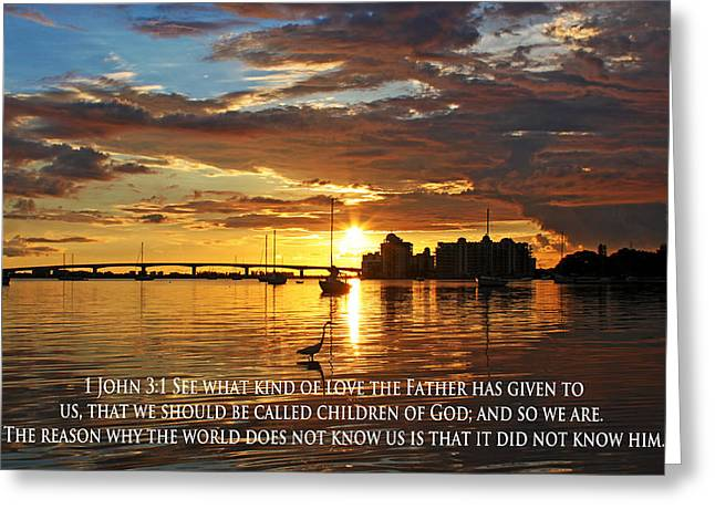 Saint Hope Greeting Cards - Love for the Children of God Greeting Card by Ronald Suffron
