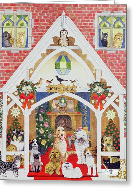 Porch Greeting Cards - Love From Holly Lodge Greeting Card by Pat Scott