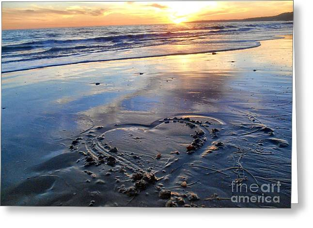 California Beach Art Greeting Cards - Love From The Bu Greeting Card by Patricia Pushaw