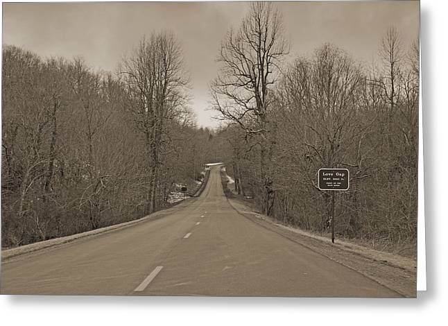 Love Gap Blue Ridge Parkway Greeting Card by Betsy A  Cutler